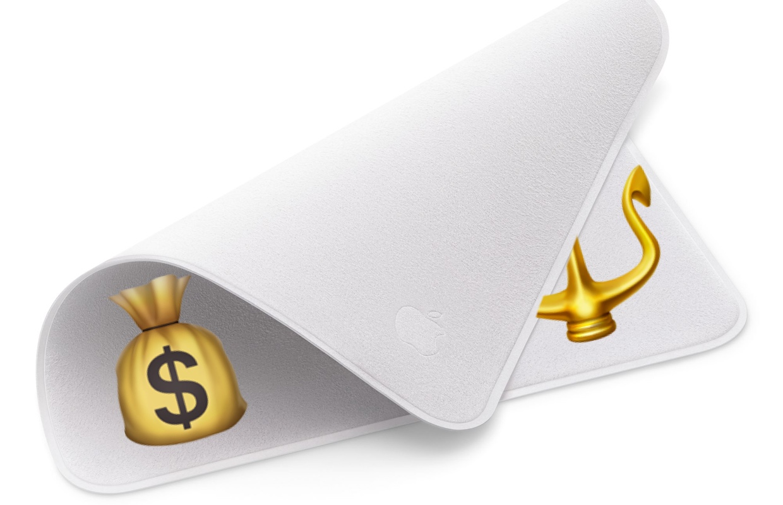 Apple-poetsdoekje van 25 euro is nu al uitverkocht