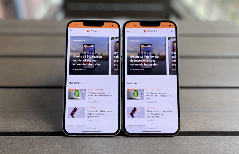 Het scherm van de iPhone 13 vs de iPhone 13 Pro: zie je het verschil?