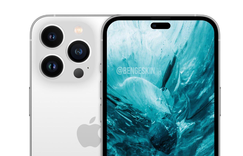 iPhone 14-concept toont nieuw ontwerp met gaatje in het scherm