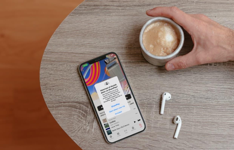 iOS 15.1 SharePlay: een liedje delen en samen naar muziek luisteren