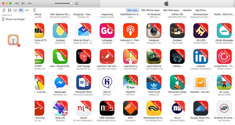 oudere app terugzettenk