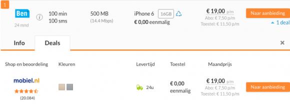 goedkope iphone kosten