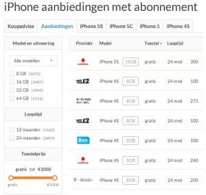 iPhone prijsvergelijker