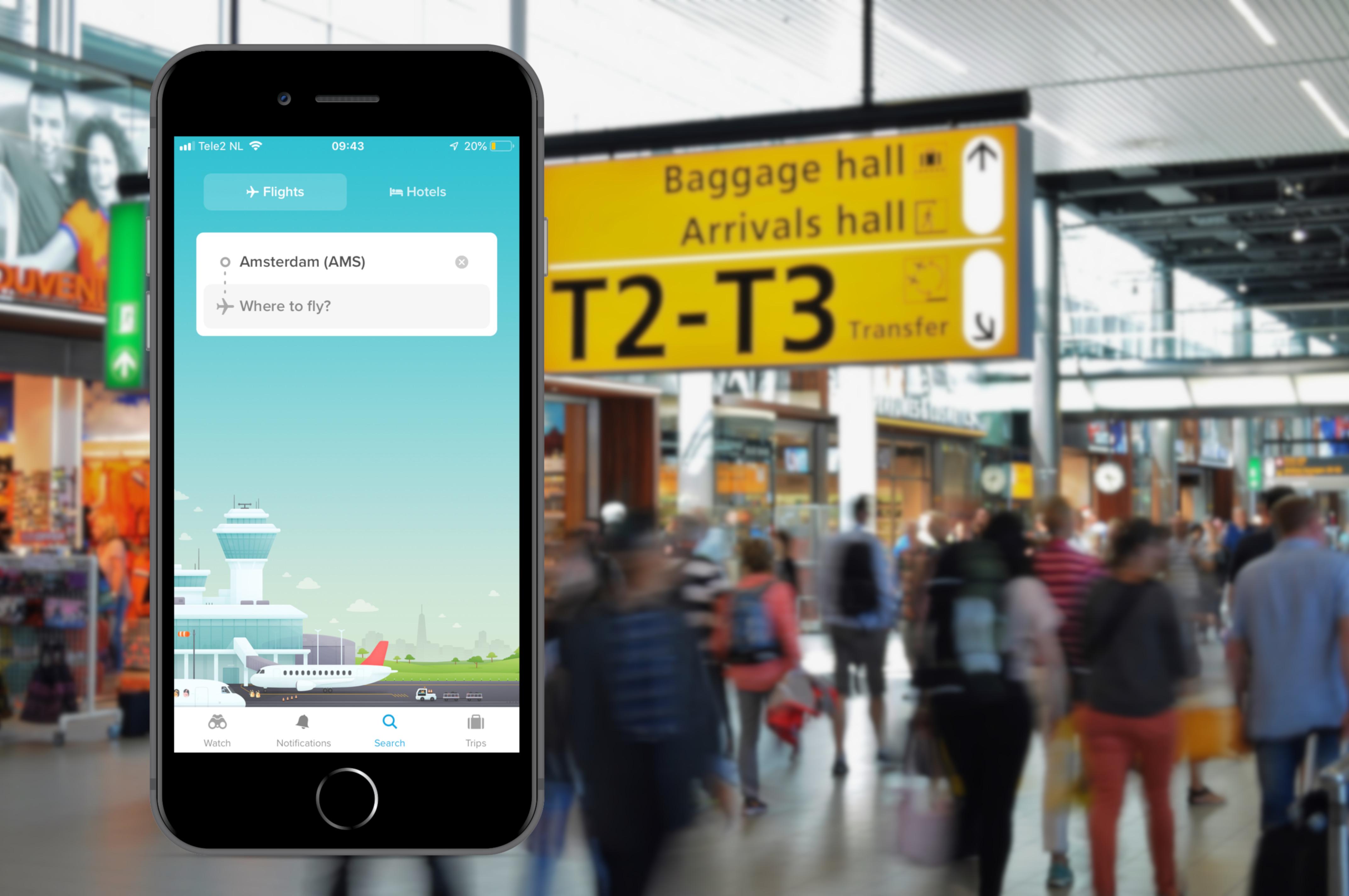 De 4 beste iOS-apps voor het vinden van goedkope vliegtickets