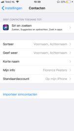 iPhone-contacten opschonen