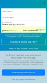 iOS 12 automatisch sterke wachtwoorden