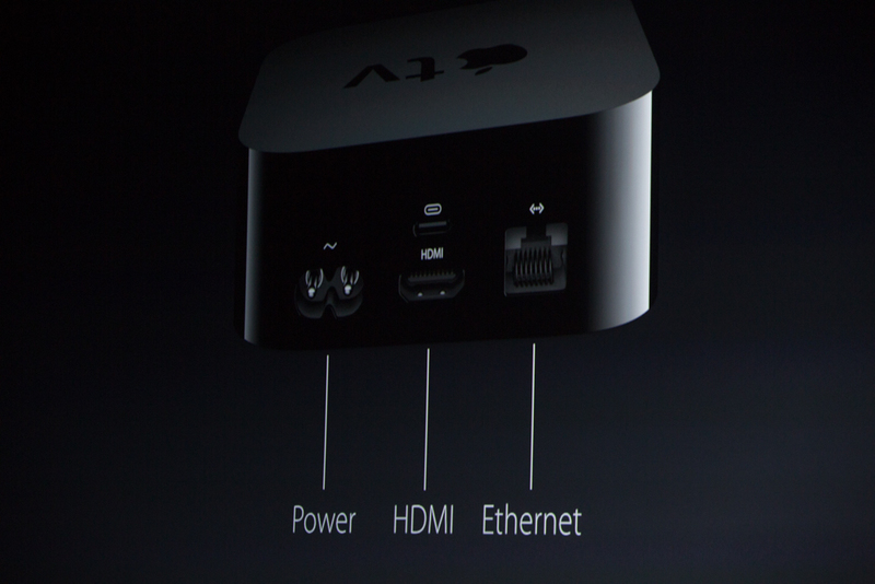 apple tv achterkant connecties