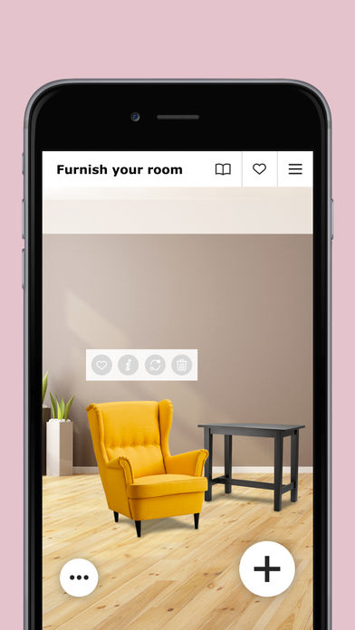 ikea iphone app projecteert meubels in je kamer apps. Black Bedroom Furniture Sets. Home Design Ideas