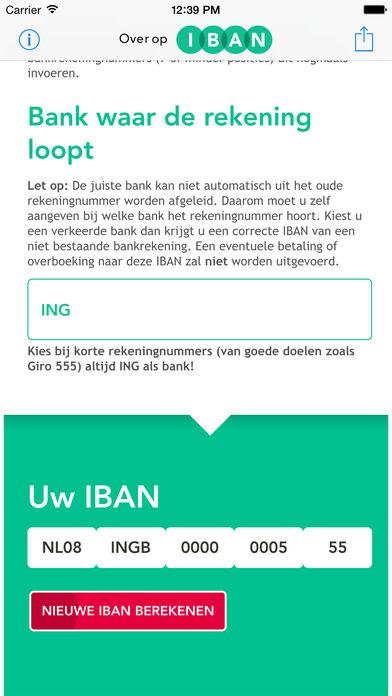 Een IBAN rekeningnummer bestaat uit een landcode (NL voor Nederlandse banken), een controlegetal (voor iedereen anders), de code van uw bank (bijvoorbeeld RABO voor de Rabobank) en uw rekeningnummer, aan de voorzijde aangevuld met nullen om een totaal van 10 karakters te creëren.