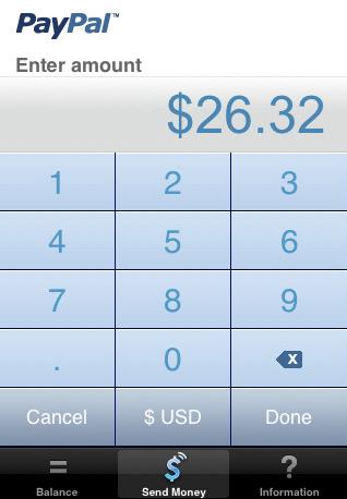 de PayPal app op de iPhone